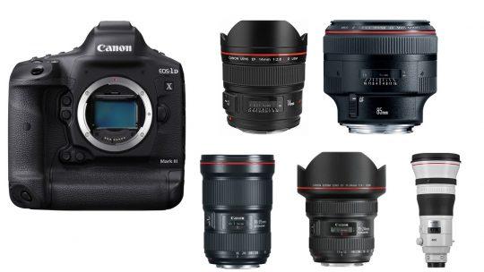 Les meilleurs objectif pour le Canon 1Dx Mark III