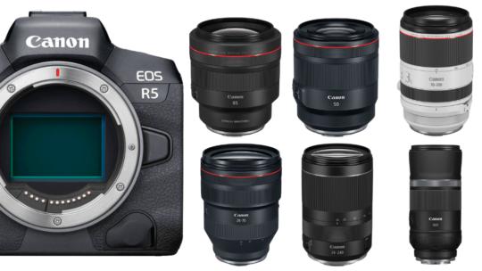 Liste des Meilleurs objectifs pour Canon R5